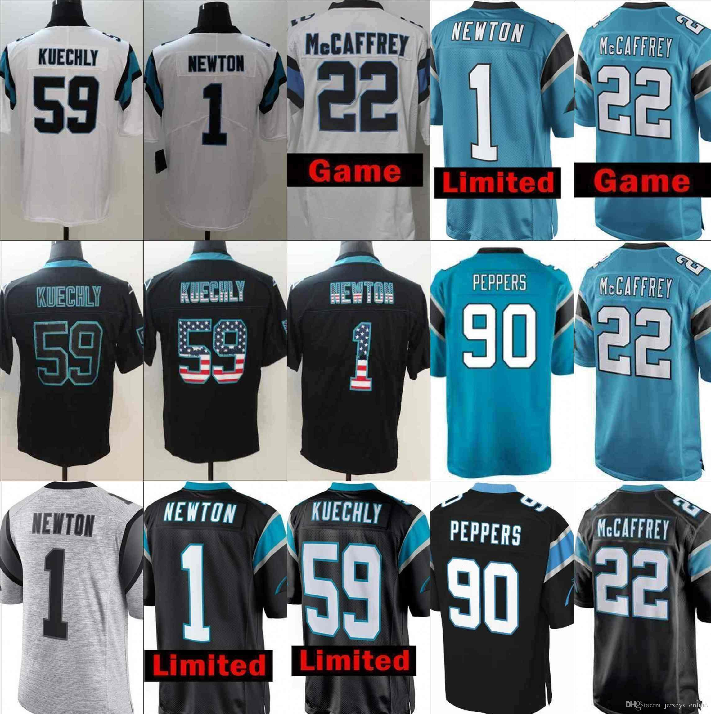 2019 Custom Carolina Jersey 9 Graham Gano 17 Devin Funchess 36 Demetrious  Cox 54 Thompson 96 Horton 21 Searcy 92 Butler 95 Poe Panthers 11 01 From ... 4a1bb507b3a9