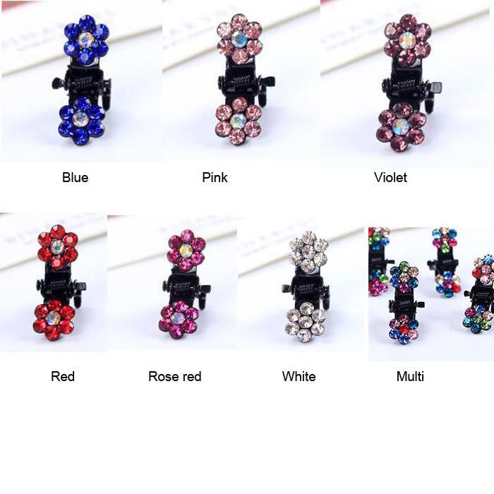 12 pçs / lote Acessórios Para o Cabelo de Cristal Flor Mini cabelo Garras Barrette Grampo Grampo de Cabelo para meninas crianças