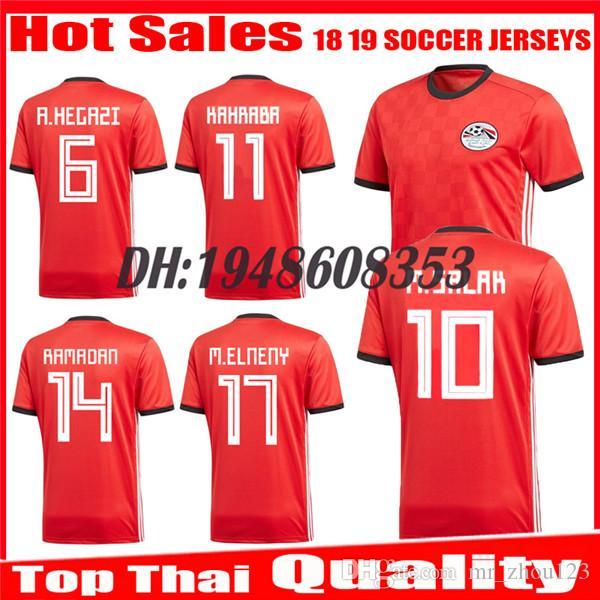 2019 2018 2019 Egypt Soccer Jersey M. SALAH World Cup Home Red 18 19  KAHRABA A. HEGAZI RAMADAN National Team Uniforms Jerseys Footbal Shirts  From Mr zhou123 ... ce1faa07c