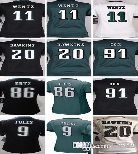 ... italy 2018 womens kids philadelphia eagles jerseys 11 carson wentz 20  brian dawkins 86 zach ertz 2ed424452
