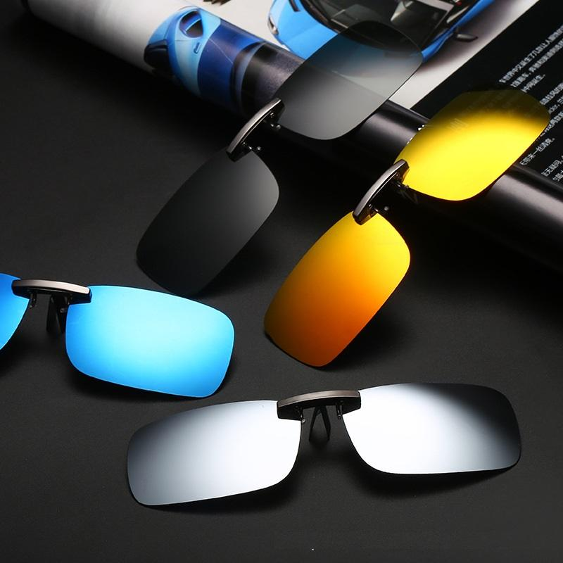 3bff7d8b8c0 Vazrobe Aluminium Clip On Sunglasses Men Women Polarized Driving Anti Glare Day  Night Photochromic Fit Over Glasses Frame Lens Dragon Sunglasses Vintage ...