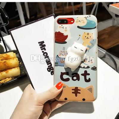 Squishy Cat Phone Accessories Kawaii Mini Soft Squishy Animals Hand Squeeze Toys Funny Chick Rabbit Panda 36