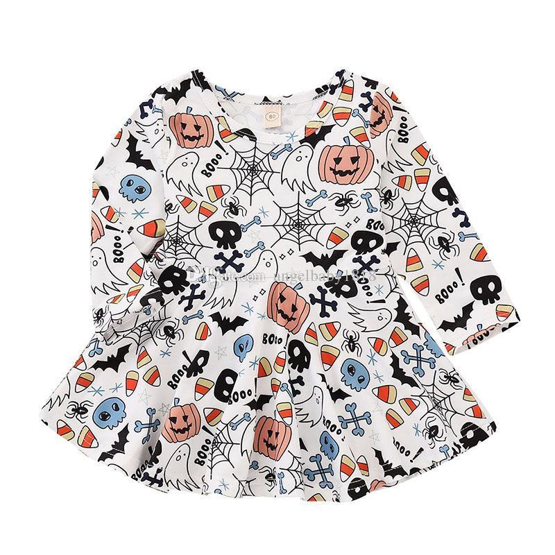 23b4d7e3d8dab 2019 2018 New Halloween Christmas Children'S Baby Girls Summer Princess  Dresses Party Kids Gift Sleeveless Print Dress From Angelbaby1818, $8.1 |  DHgate.Com