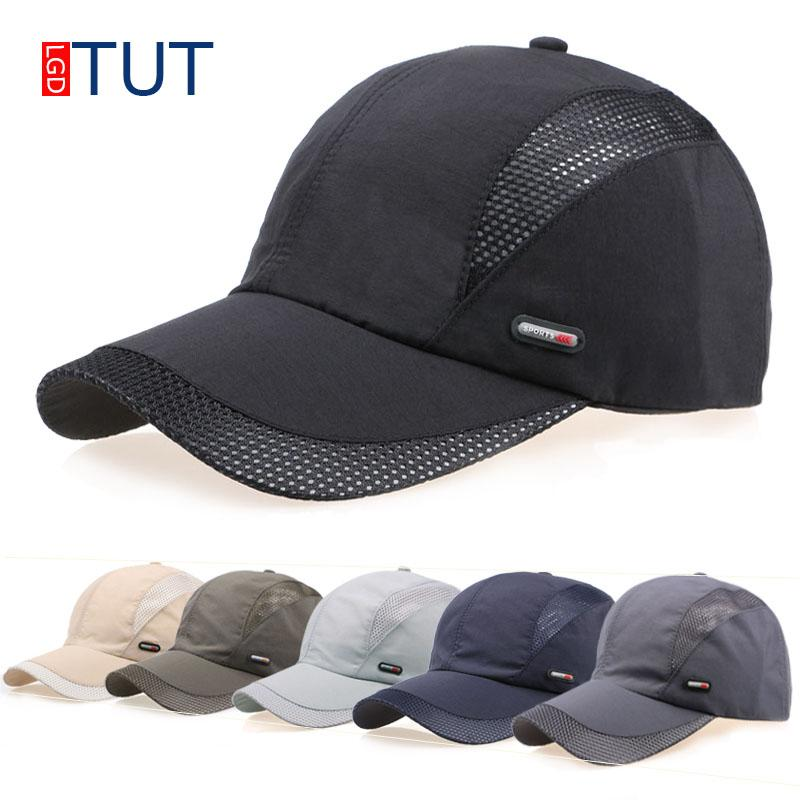 63de9e1b8cefe New Summer Sport Mesh Baseball Cap Quick Drying Cap Men Women Dad Hat  Outdoor Sun Quick Dry Breathable Hats Men Women LGDTUT Make Your Own Hat  Basecaps From ...