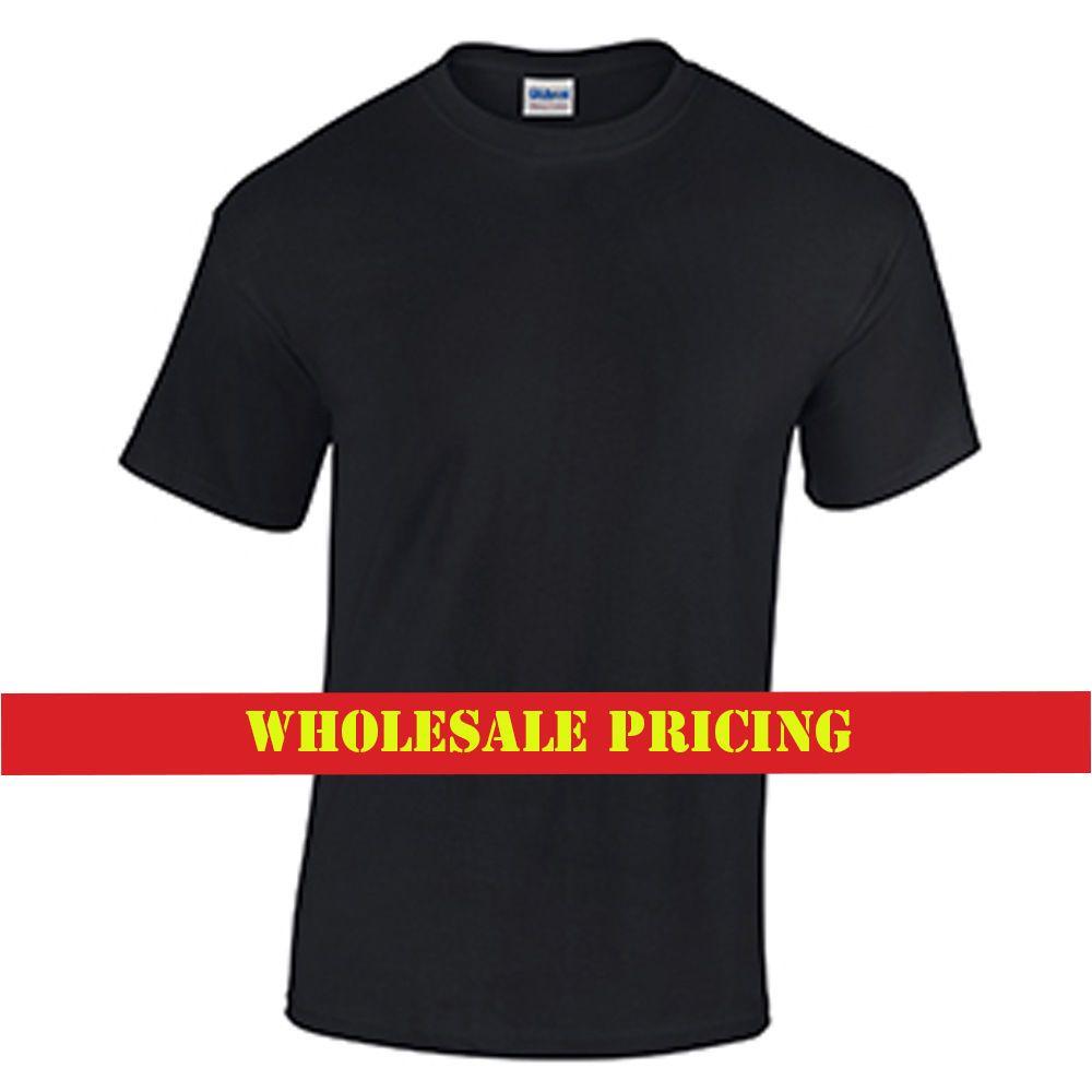 top-rated official terrific value innovative design Black T Shirt Men s Unisex Work Plain Black Shirt Promo Wholesale Price T  Shirt Custom Short Sleeve T-Shirts for Men 2018 New 3d