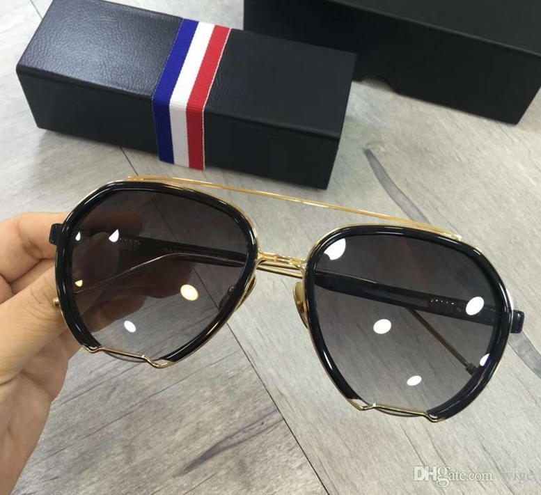 b6292eef0b2 TBS 810 Pilot SUNGLASSES Black Gold  Grey Gradient Lenses Sonnenbrille  Occhiali Da Sole Luxury Designer Sunglasses Sun Glasses New Wib Box  Sunglasses At ...