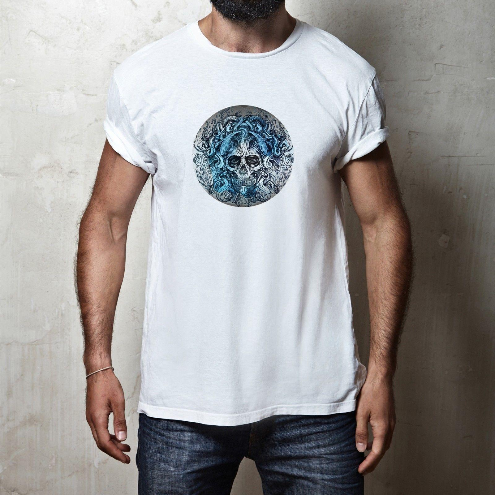 e614deb27 Mens Fit Sea Octopus Ocean Tentacle Skull Tattoo Art Style Fashion T Shirt  Tee Rude T Shirt Shirt With T Shirt From Yvettestore, $24.2| DHgate.Com