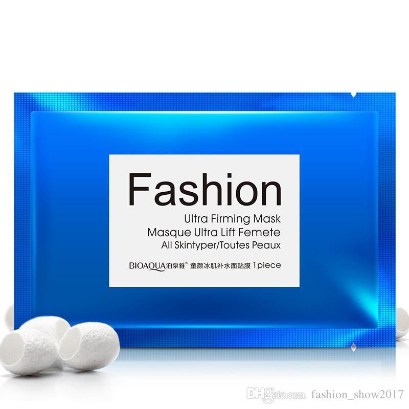Women Brand BIOAQUA Fashion Silk Protein Collagen Facial Mask Moisturizing Hydrating Firming Shrink Pore Face Care Mask