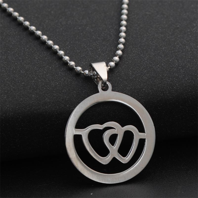 Wholesale Double Heart Symbol Necklace Lovers Necklace Keychain