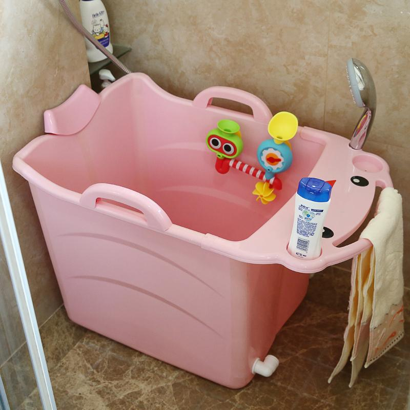 2018 2018kids Large Folding Baby Bathtub Thickened Vertical Bath ...