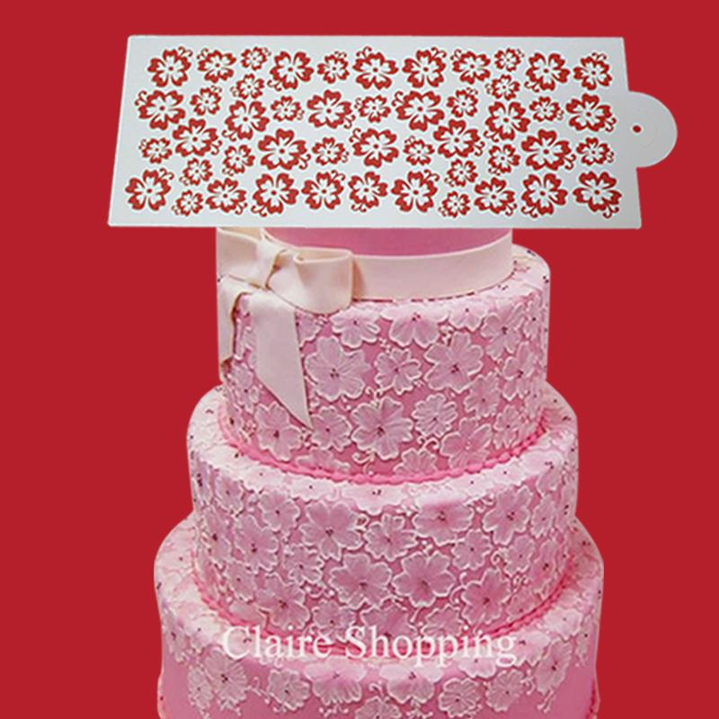 2018 Yueyue Sugarcraft Newest Lace Cake Stencil Beautiful For
