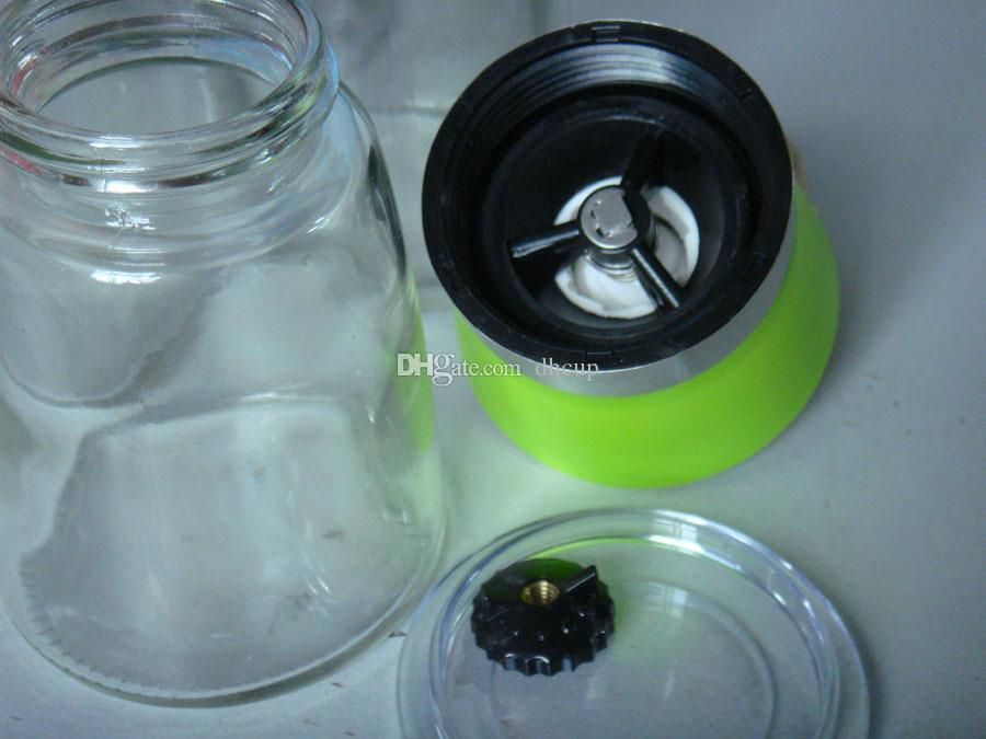 Manual es molinillo de sal y pimienta molinillo de plástico molinillo pimienta especia sal condimento recipiente contenedor DHL envío gratis