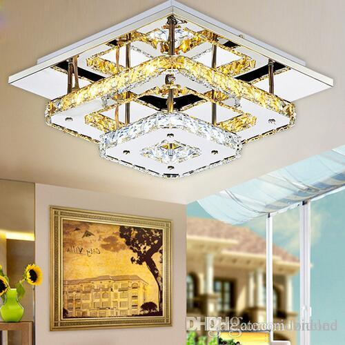 Ceiling Lights 85-265v Modern Led Crystal Ceiling Lights Circle Chandelier Ceiling Luminarias Plafon For Bedroom Lamparas Techo Light Fixtures