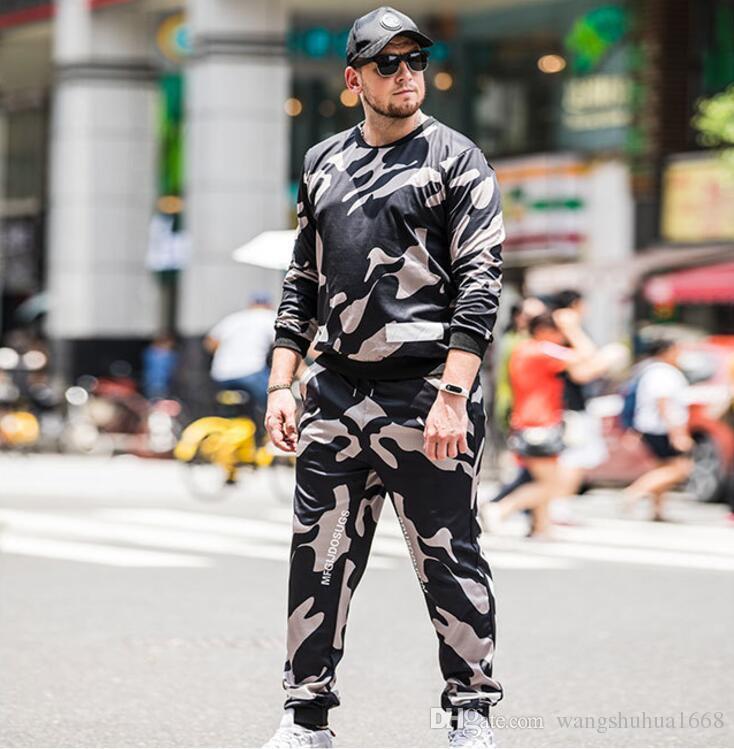 1d46bfc3fbe5 Men s Sport Two-piece Suit Popular Logo Size Men s Wear Plus-size ...