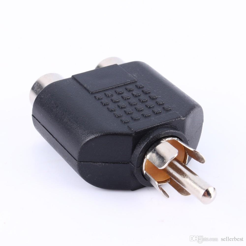 VBESTLIFE Câble audio 2 en 1 RCA mâle à 2 RCA femelle Y Splitter Adaptateur audio Connecteurs Convertisseur pour multimédia