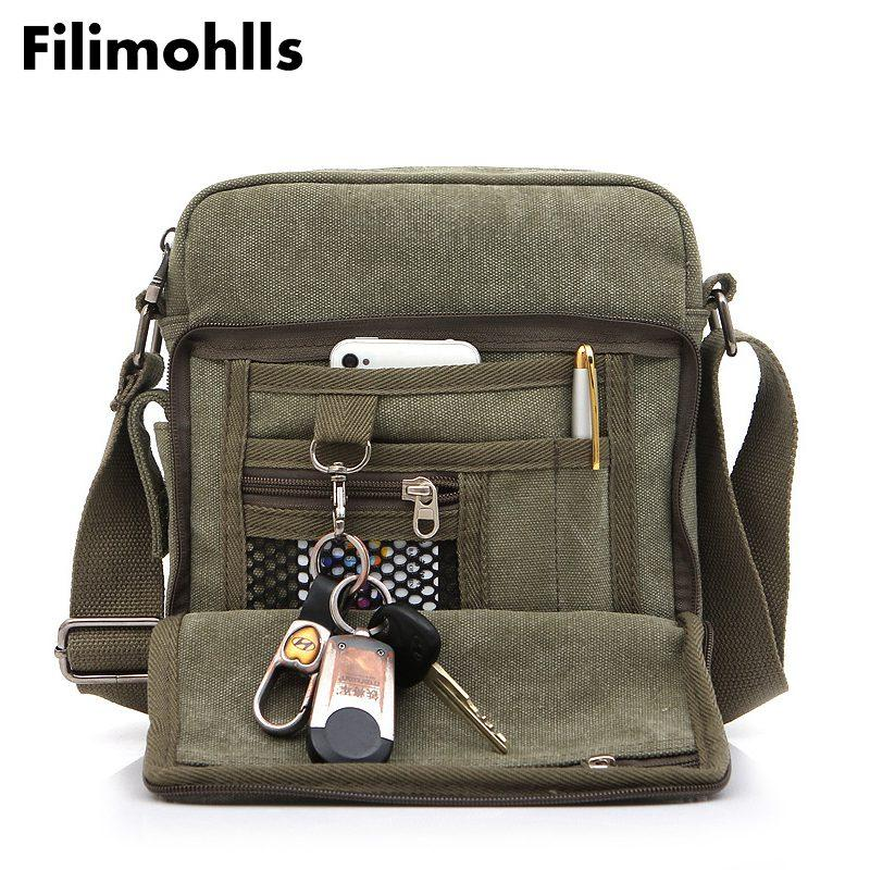 81646457e9 Multi Functional Casual Messenger Bags Men Canvas Leisure Men Shoulder Bags  Vintage Small Crossbody Satchel Bag For F 269 Leather Backpack Purse  Handbags ...