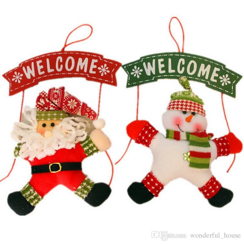 2018 christmas decorations wreath christmas door hanging christmas cloth garland home hotel small door hanging dhl from wonderful_house 244 dhgatecom - Small Christmas Door Decorations