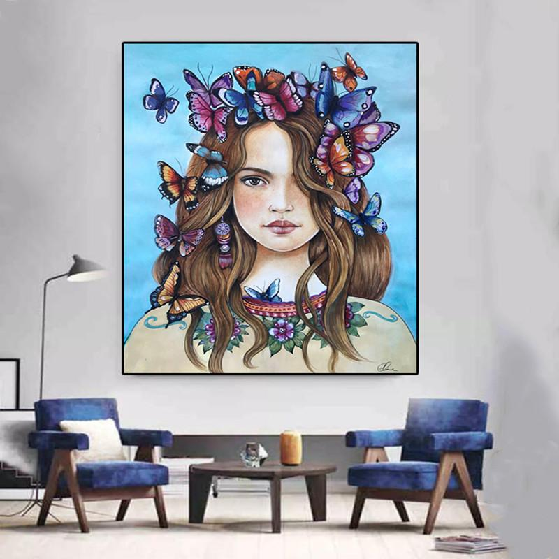 Satın Al Toptan çiçek Peri Kelebek 5d Diy Elmas Boyama çapraz Dikiş