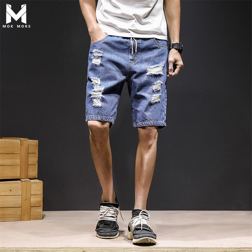 2019 2018 Summer New Denim Shorts Mens Fashion Street Fashion Hot