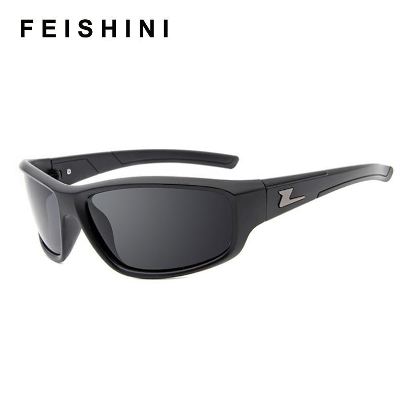Compre FEISHINI Gafas Protectoras HD Gafas De Sol Polarizadas Hombres Que  Conducen Diseño Clásico Todo En Forma Sunglass Polaroid Marco Negro Gafas  ... 2348ce2ab681