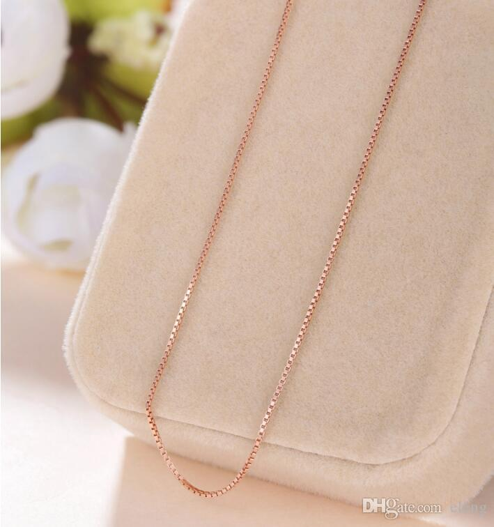 """2018 New 16"""" -18 """"inches Genuine 925 Sterling Silver 0.7 MM Box chain Necklace + Clasps 925 Tag EXL 480"""