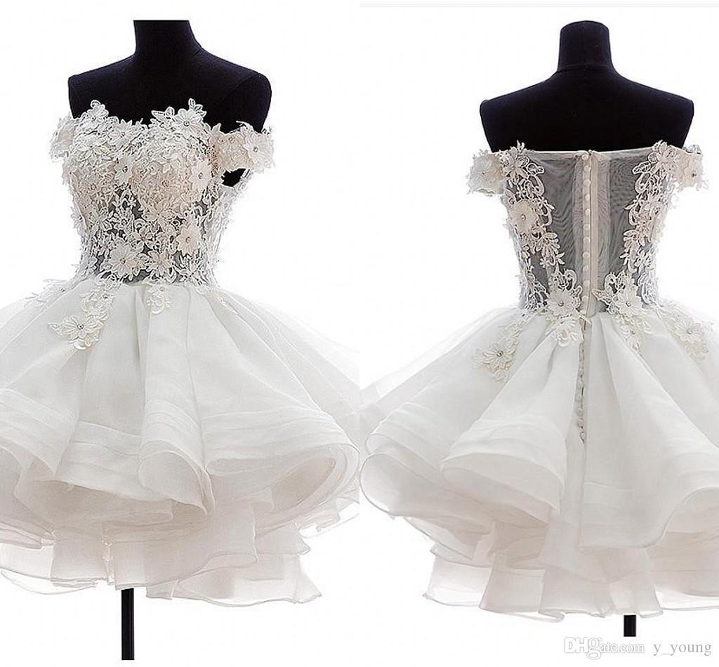 Plus Size Short Empire Wedding Dresses