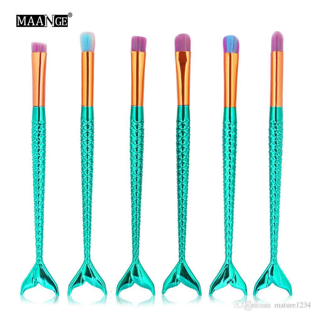 Shine Green Makeup Brushes Tech Professional Beauty Cosmetics Brushes Sets