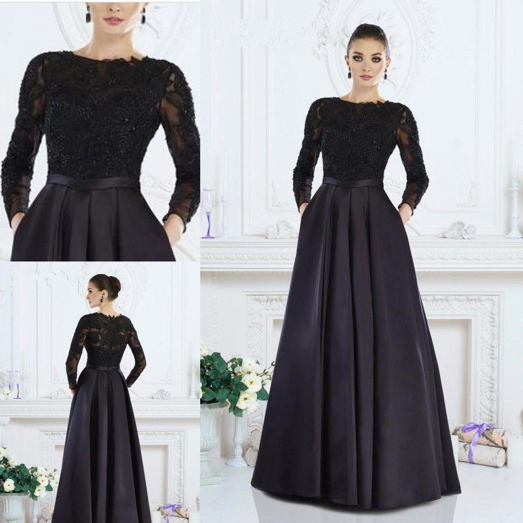 176c745ad0a4 Of The Bride Dresses 2018 Boat Neck Applique Satin Plus Size Wedding Guest  Dress Evening Wear