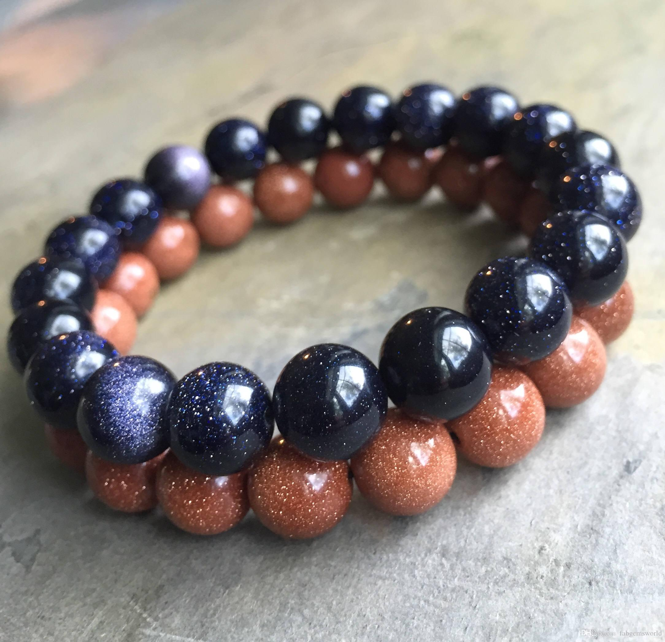 orders over blue wide polished jewelry amazonite matte brown orange watches overstock beaded on onyx shipping stretch bead white free stone bracelet and product
