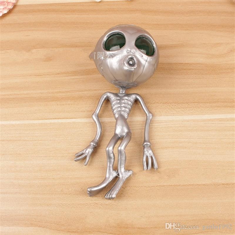 Cranio Kuso Originalità Alieno Testa di fantasma Spremere Sfiato Decompressione Spremere Palla d'acqua Regali di Halloween Giocattoli squishy 3 6bq O