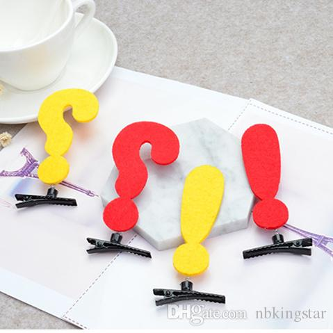 Unisex New Funny Humorous Question Mark Arrow Symbol Barrettes Hairpin Hair Accessorie Lovely Cosplay Hair Clip