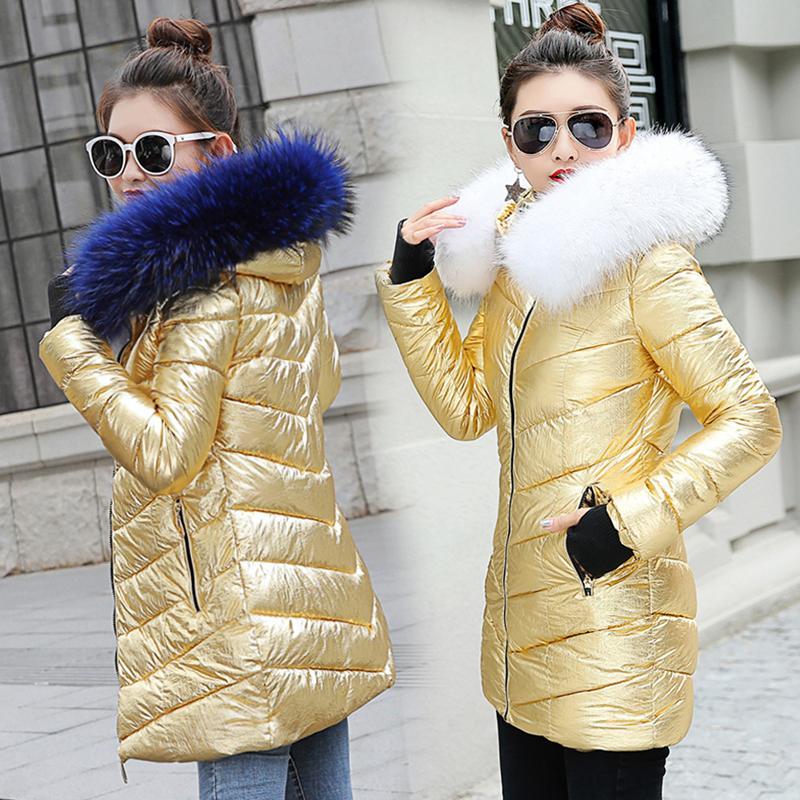 2051799233 Compre 2019 Chaqueta De Invierno Mujer 2018 Outwear Parkas Para Mujer  Chaqueta De Invierno Parkas Mujer Abrigo De Invierno Falso Cuello De Piel De  Mapache A ...