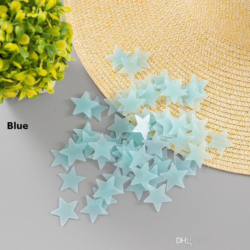 3D Luminous stars Wall Stickers glow in the dark DIY Home Decor for Kids Room living room Wall Decal