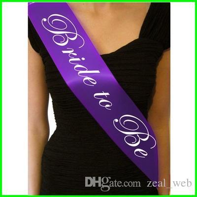 Le moins cher !!! Bachelorette saches demoiselle d'honneur Sashe mariée à être de mariage nuptiale de douche Party Favors cadeaux décorations fournitures