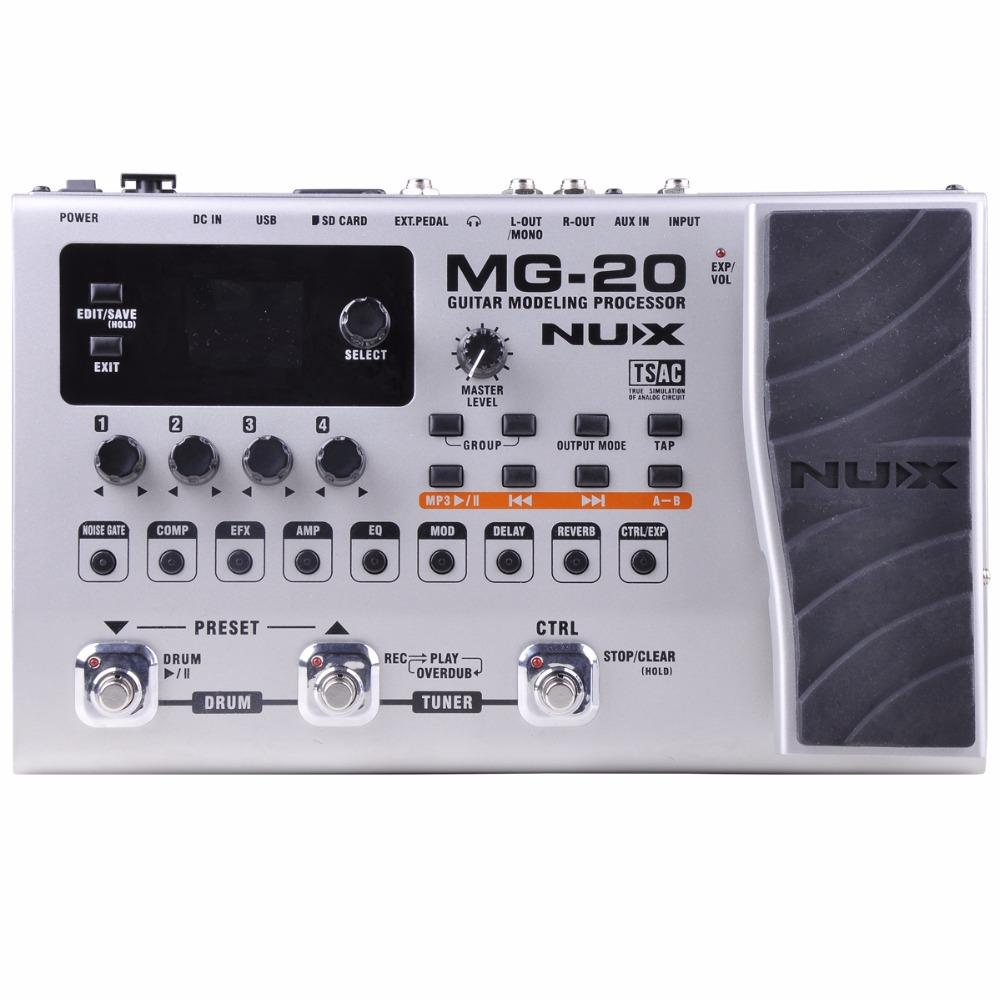 Sports & Entertainment Stringed Instruments Collection Here Nux Mg-20 Multi-effects Pedal Guitar Processor With Wah-wah Volume Expression Pedal 60 Effects 72 Presets With Drum Machine