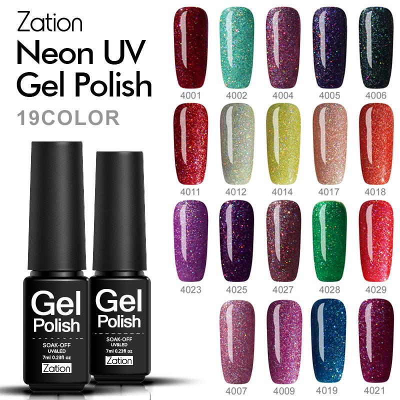 Zation 2017 Product Color Gel Lacquer Shiny Color Nails Primer Neon