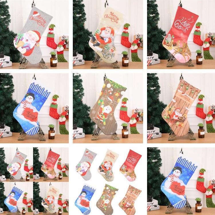 Großhandel Neue Stil Weihnachtsstrümpfe Kamin Dekorationen ...