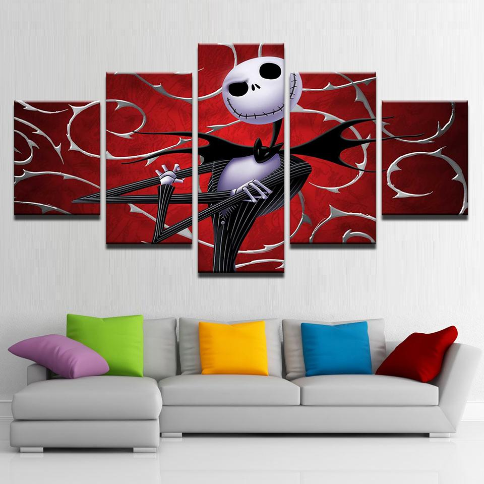 Best Canvas Prints Wall Art Pictures Hallowmas Jack Skellington ...