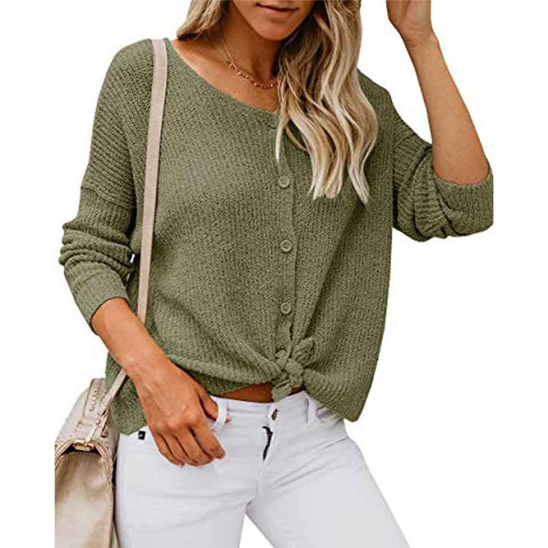 aac82e6160f9 2019 New Womens Long Sleeves Blouses Off Shoulder Sweater Button Down  Shirts Sexy Tops Blouses Tunic Casual Streetwear Tunique Femme From  Yuedanya, ...