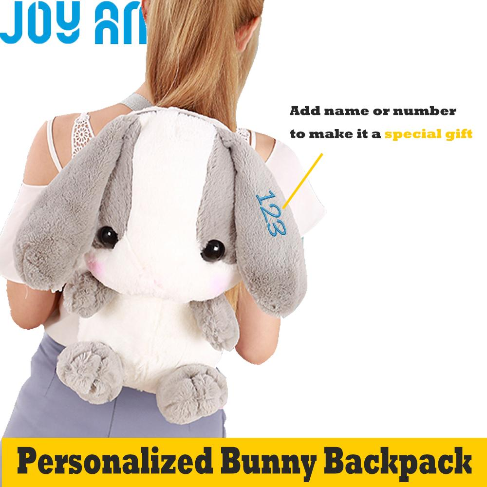 2019 Personalized Med Soft Amuse Bunny Backpacks With The Name