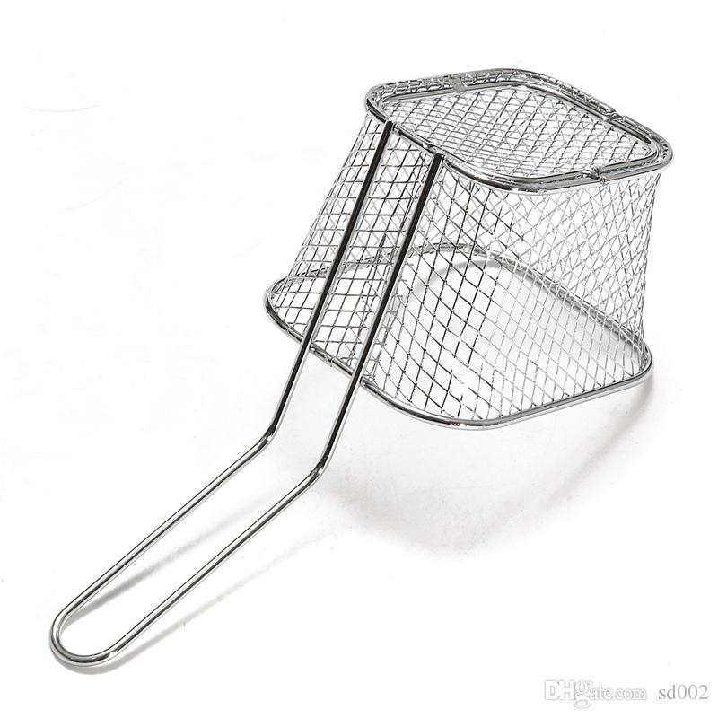 Metal French Fries Basket Strainers Chicken Wings Snack Fry Baskets Kitchen Cooking Tool New 5 5br C R