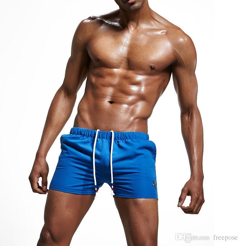 Herren Badehose Bademode Shorts Slim Wear mit großer Tasche Herren Shorts Surf Board Shorts Sommer Sport Strand Homme Bermuda kurze Hose EOS675