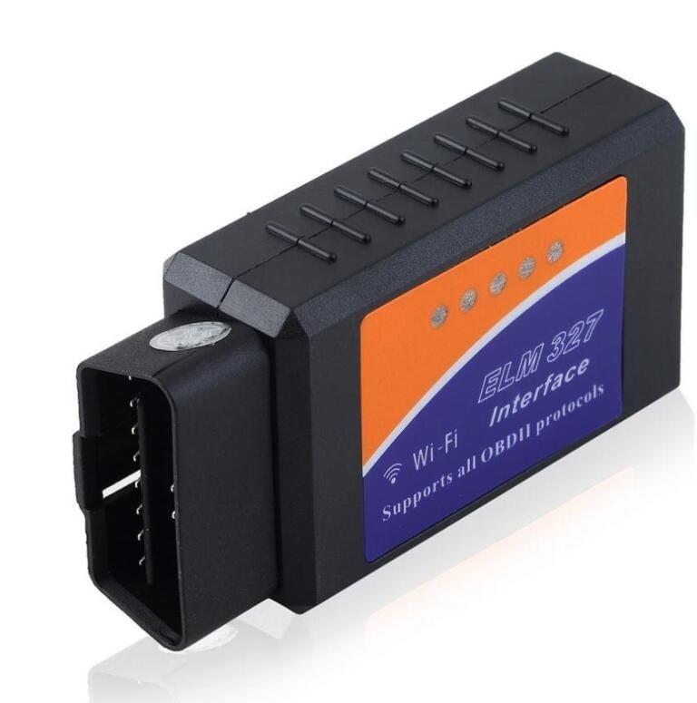Outil de diagnostic automatique universel OBD2 de scanner ELM327 Wifi Scanner V 1.5 V1.5 ELM 327 WIFI OBDII sans fil pour les deux iPhone iPad Android Téléphone