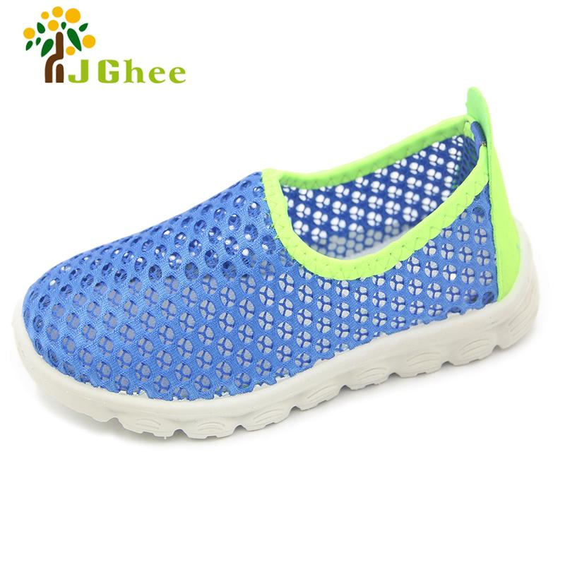 JG 2018 New Summer Fashion Kids Shoes Cut-outs Air Mesh Breathable Shoes For Boys Girls Children Sneakers Baby Boy Girl Sandals