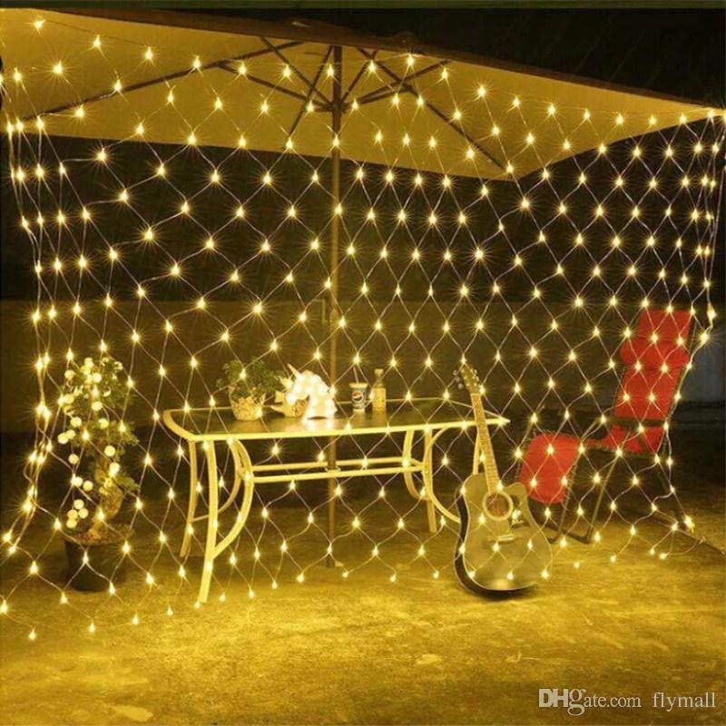 LED 1.5M*1.5M 100 LEDs Web Net Light Fairy Christmas Home Garden Light  Curtain Net Lights Net Lamps 110V 220V Super Bright String Light Outdoor  Light String ... - LED 1.5M*1.5M 100 LEDs Web Net Light Fairy Christmas Home Garden