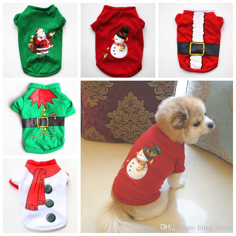 2019 Christmas Dog Shirts Cotton Dog T Shirts Small Dogs Clothing Xmas  Puppy Costume Pet Supplies YW1780 From Bling_world, $1.46 | DHgate.Com - 2019 Christmas Dog Shirts Cotton Dog T Shirts Small Dogs Clothing