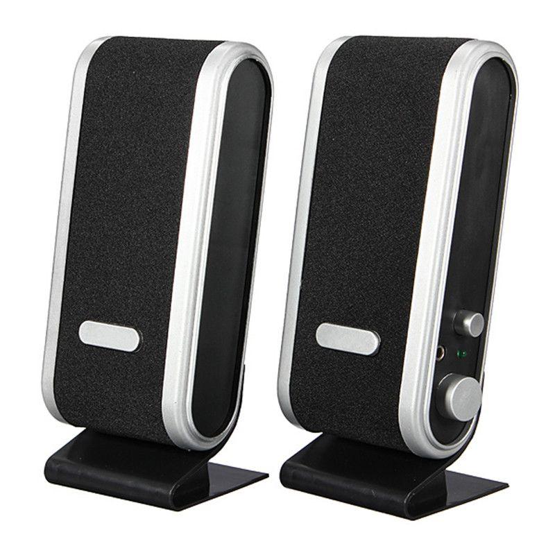 1 Pair Computer Speaker Multimedia Portable Desktop Speaker USB 3 5mm Audio  Built in Mic Jack Loudspeaker