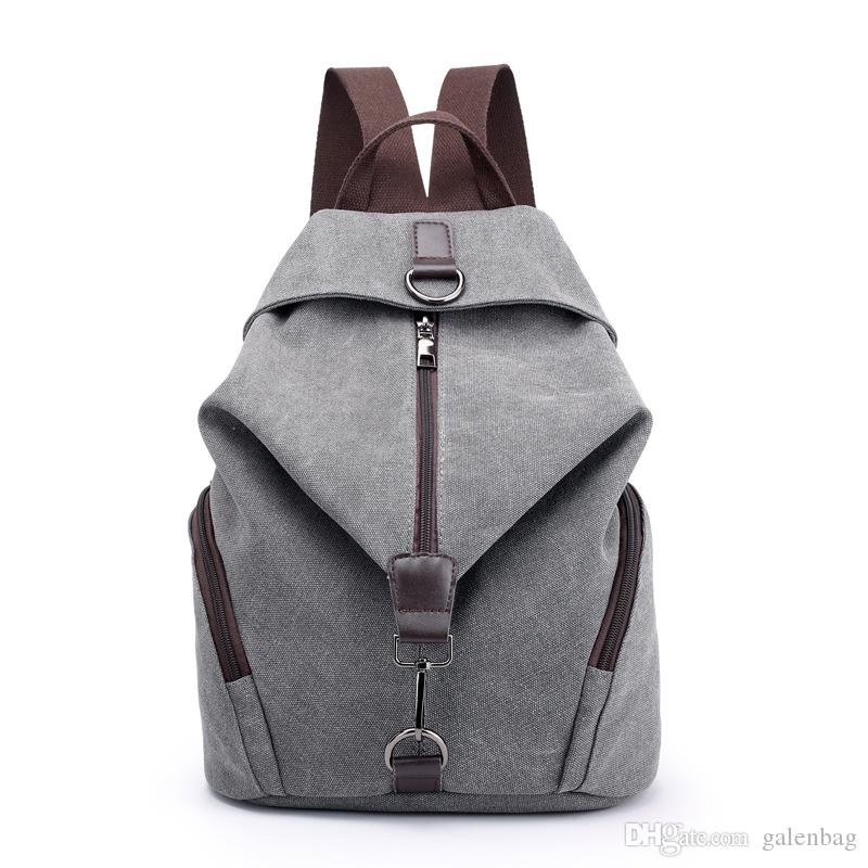 b2615c1a6cff Outdoor Cool Backpack Retro College Wind Travel Leisure Durable Canvas  Comfortable Students Bag For Girls And Women Swiss Army Backpack Black  Leather ...