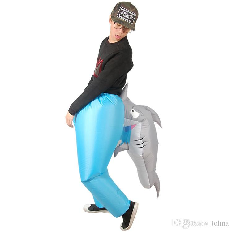 Shark Inflatable Costumes For Adult Ride On Horse Toy Cosplay Suits Animal Fancy Dress Halloween Carnival Party Airblown Outfit Theme Halloween Costumes ...  sc 1 st  DHgate.com & Shark Inflatable Costumes For Adult Ride On Horse Toy Cosplay Suits ...