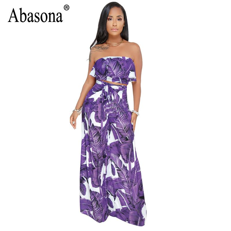 844fe096d754 2018 Abasona 2018 Floral Printed Rompers Womens Jumpsuit Strapless  Sleeveless Wide Leg Jumpsuit Summer Casual Bohemian Beach From Sweatcloth